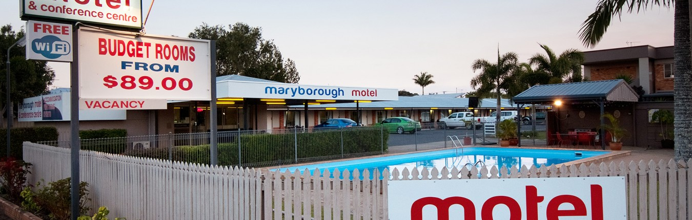 Maryborough Motel from Outside