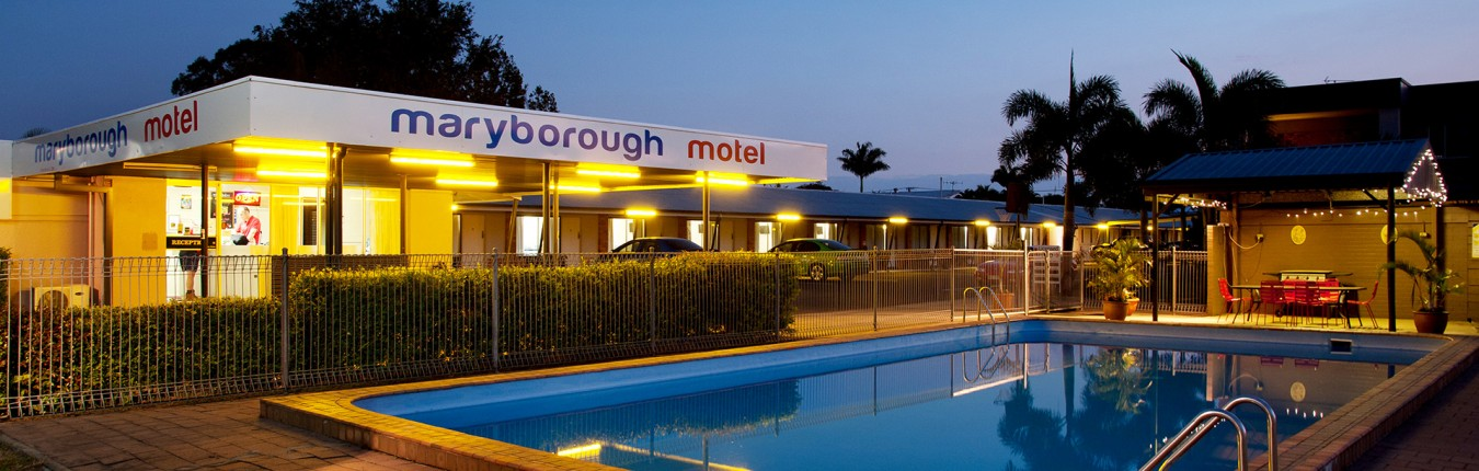 Maryborough Motel Pool at Night