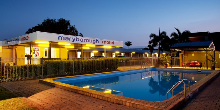 Maryborough Motel Pool at Night